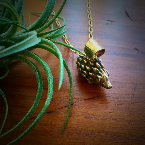 Bronze Hedgehog Necklace