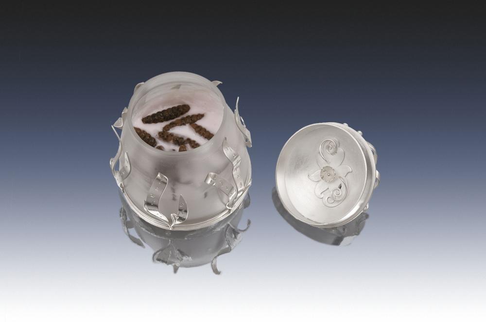 Creme de la Terre: detail image of cream jar opened.
