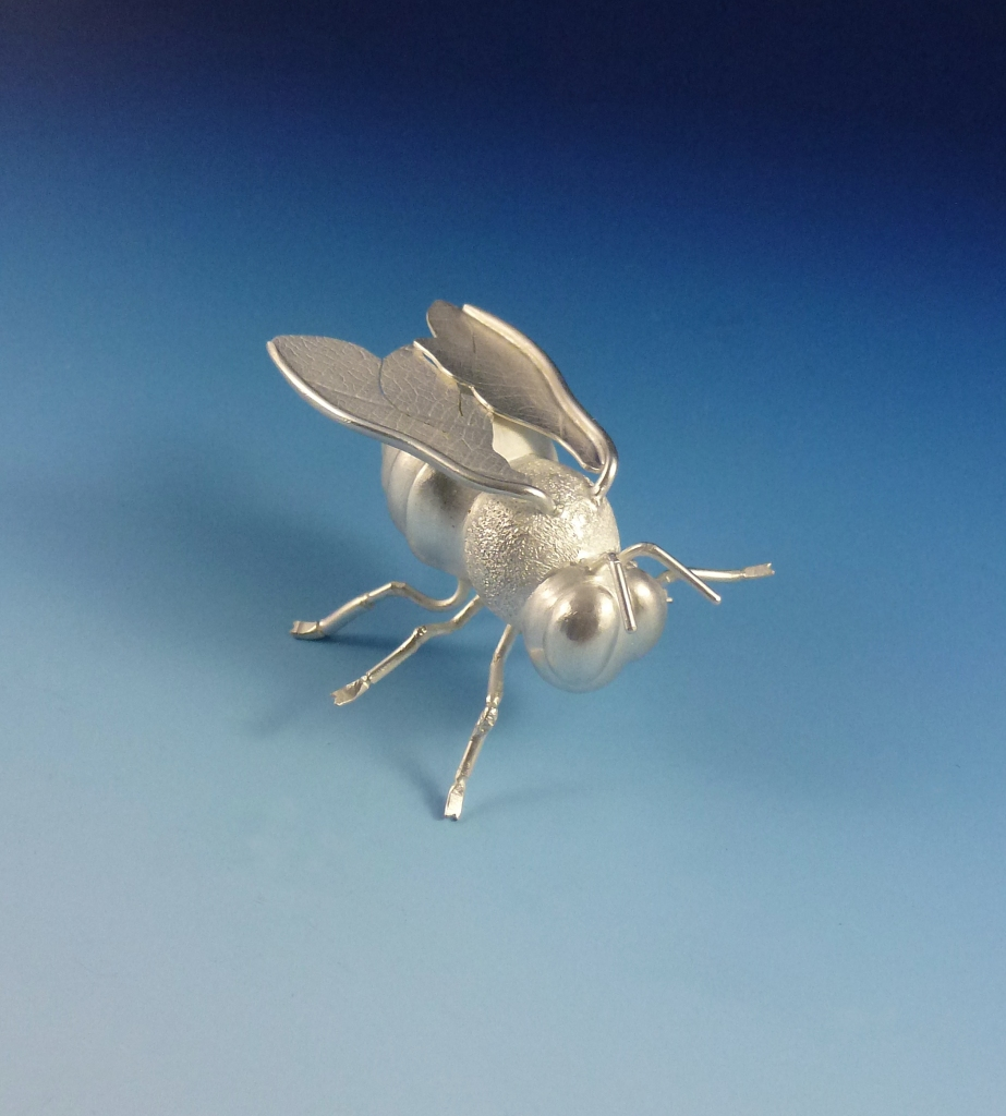 Queen Bee: I fabricated this silver bee to be a part of a crown dedicated to bees. It might take me a couple of years to finish, but hopefully it will be worth the wait!