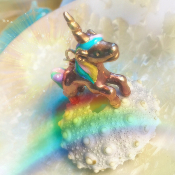My colorful unicorn bronze necklace brings out the child in everyone!