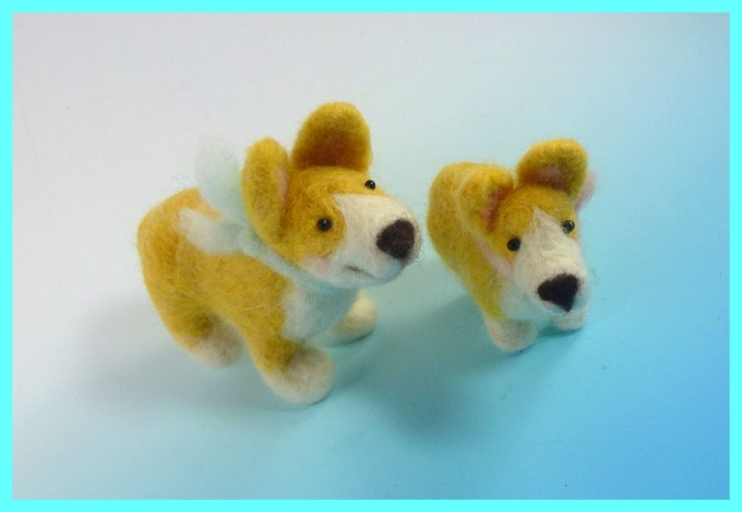 My little felt corgis