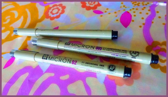 Sakura Micron Pigma pens