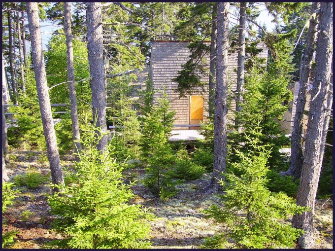 one of the cabins at Haystack