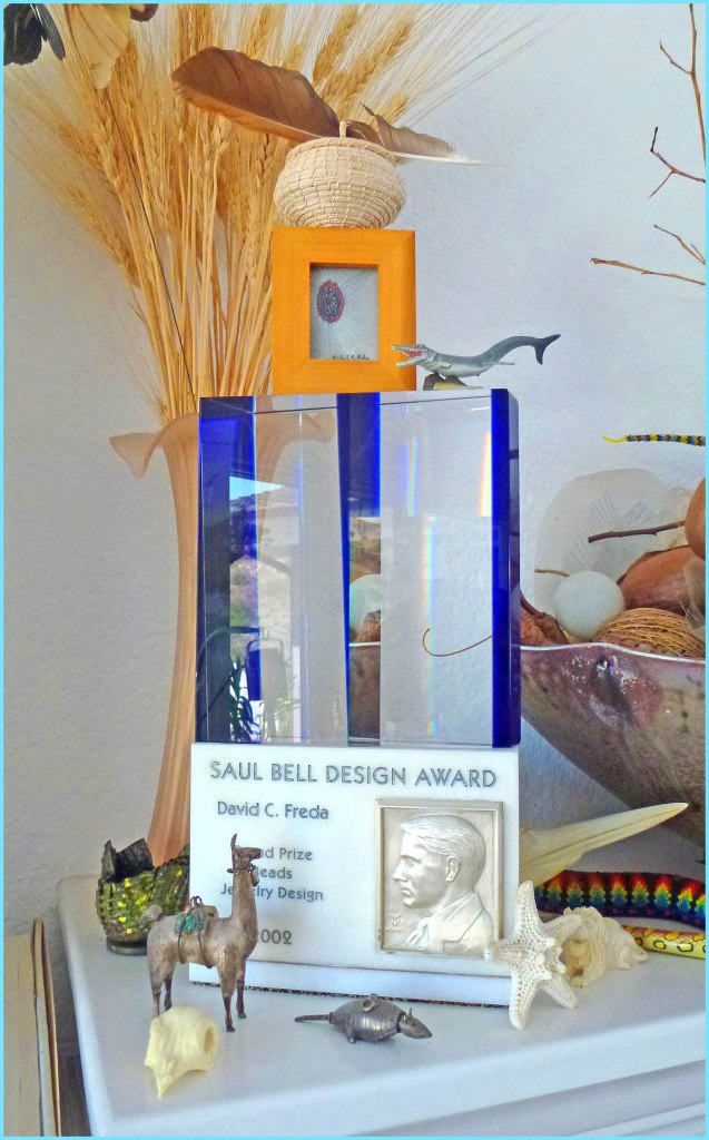 David Freda's grand prize trophy for Rio Grande's Saul Bell Competition