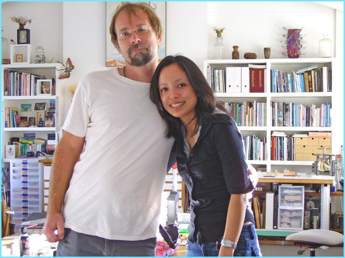 Blast from the past! This is a picture of me and David when I first interviewed him for my graduate studies.
