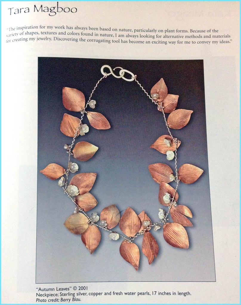 """Autumn Leaves"" necklace by Tara Magboo"