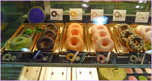 These are plastic desserts. The real Mochido are kept behind the counter. The Japanese win first prize for their realistic looking plastic food displays!