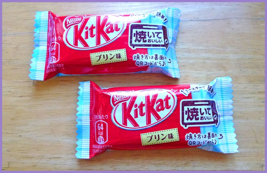 Pudding Flavored Kit Kat: White chocolate coated cookie wafers.  This is a bake-able food item!