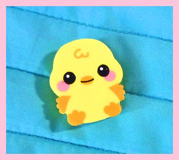 Baby chick eraser