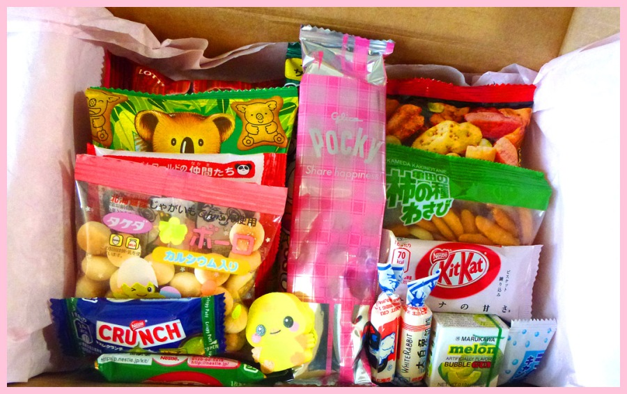 Interior of snack box