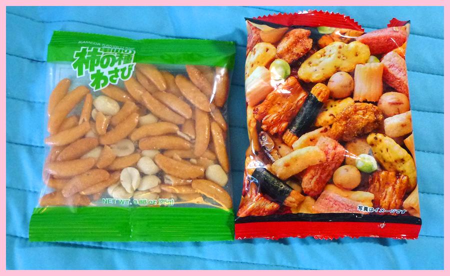 Kameda Kakinotane Wasabi Snack and Ostumami 10 Sen Baked Rice Crackers