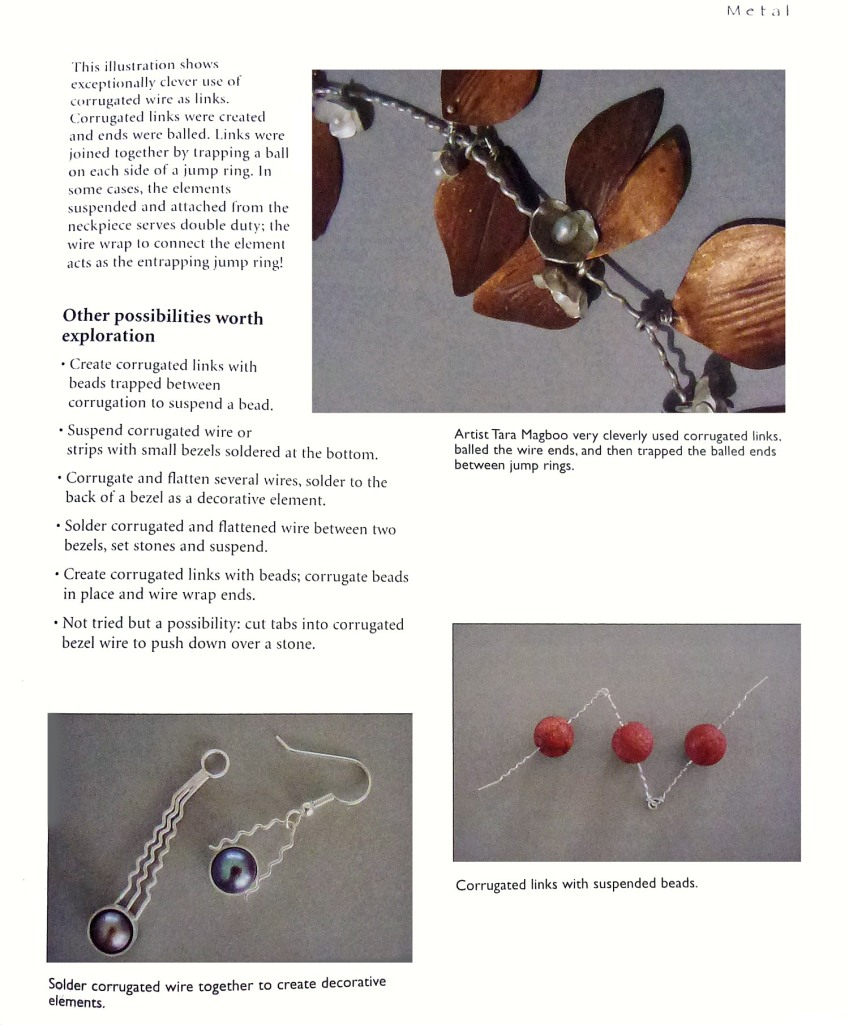"Page 19 shows a detailed image of my ""Autumn Leaves"" necklace and elaborates on my jewelry technique."
