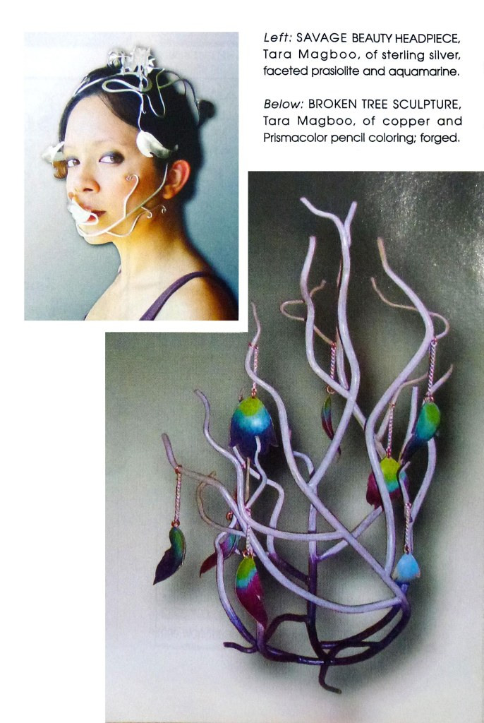 "Close-up of my work in the ""Little and Large"" Ornament article."