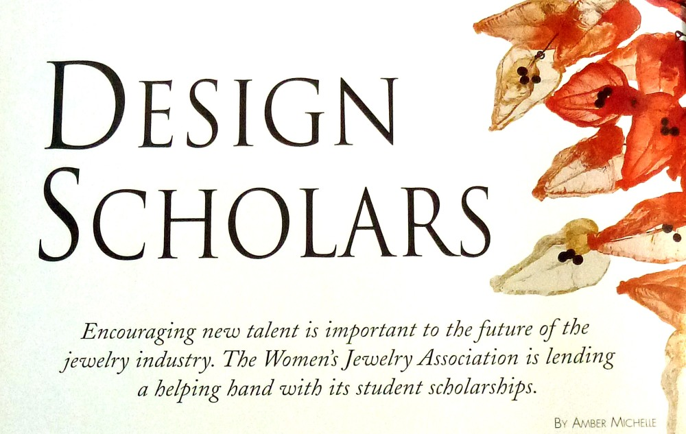 "First page of the article, ""Design Scholars"""