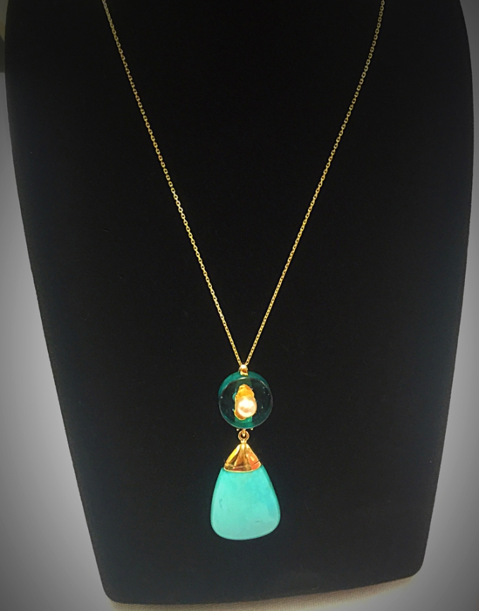 Grace Hays' Necklace: Sometimes it is good to be blue.