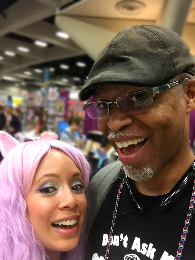 Montel and I being silly at my booth!