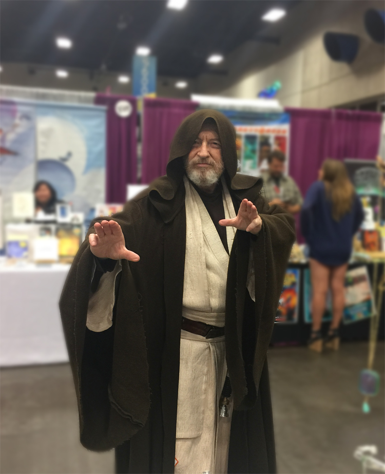 This man looked just like Obi-Wan Kenobi! Even his beard was real!