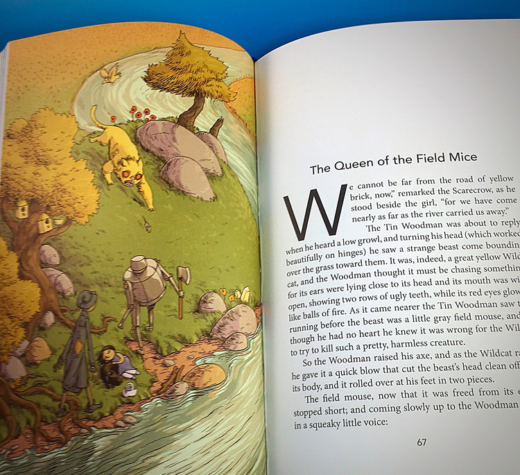Excerpt from The Wizard of OZ. This is Evan's illustration of the great yellow Wildcat chasing a field mouse.