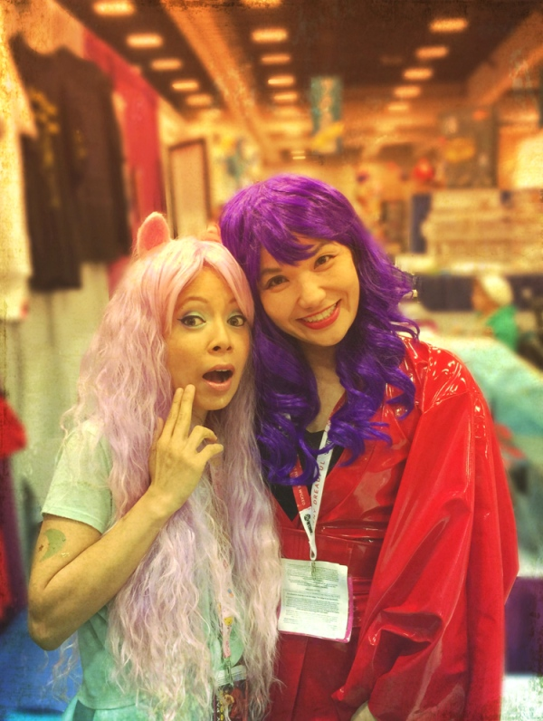 Sandra and I are sporting our colorful wigs! Check out her website at: http://sandrachang.net