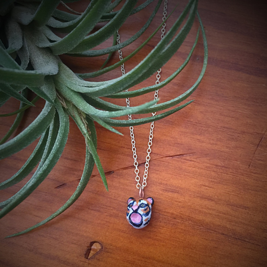 My tiny tiger necklace